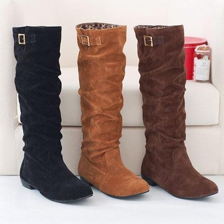 ENMAYER Fashion women boots flat ladies boots Newest stylish warm boots for lady bleak brown orange