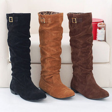 ENMAYER Fashion women boots flat ladies' boots Newest stylish warm boots for lady, bleak brown orange boots women