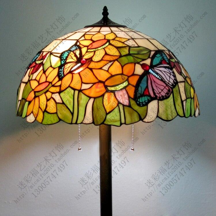 European high grade Didifanni church glass sun flower butterfly garden villa living room  floor light|floor light|living room flooring|light floor - title=