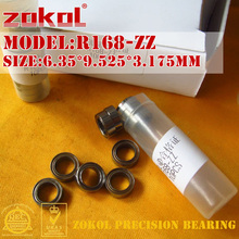 ZOKOL R168ZZ подшипник R168 зигзагообразный миниатюрный R168-ZZ глубокий шаровой подшипник 6,35*9,525*3,175 мм
