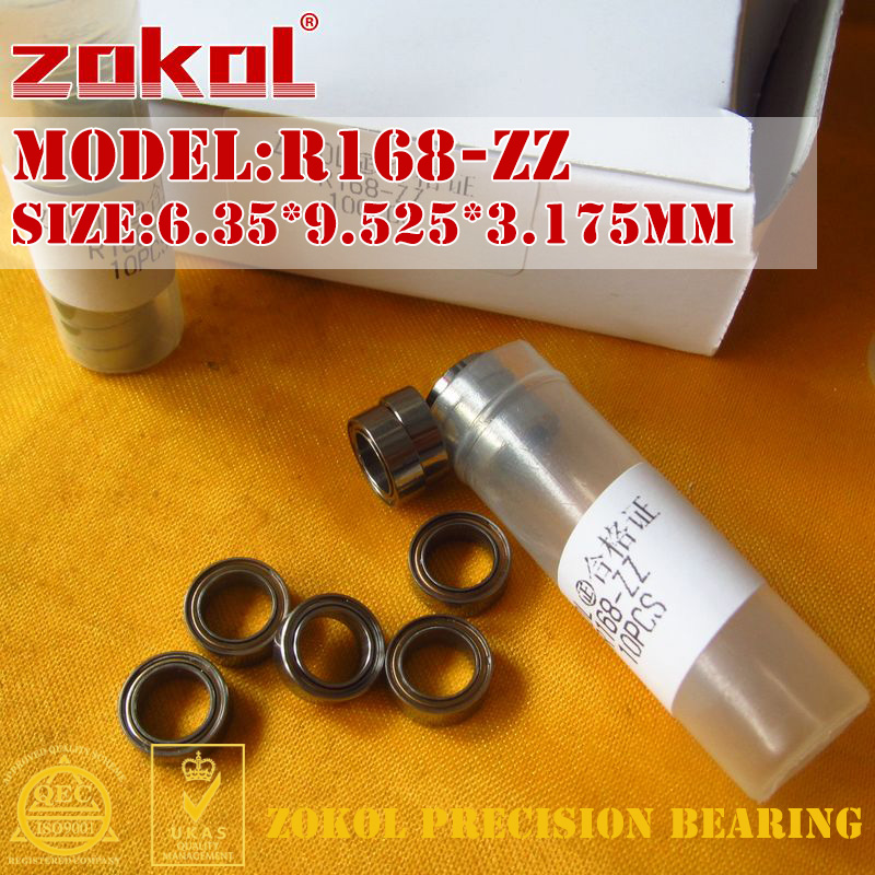 ZOKOL R168ZZ bearing R168 ZZ Miniature R168-ZZ  Deep Groove ball bearing 6.35*9.525*3.175mm gcr15 6326 zz or 6326 2rs 130x280x58mm high precision deep groove ball bearings abec 1 p0