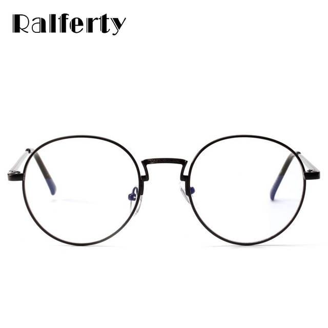 2174efd12e Ralferty Vintage Round Glasses Frame Women Men Gold Black Metal Eyeglasses  Retro Optical Frames Female Clear