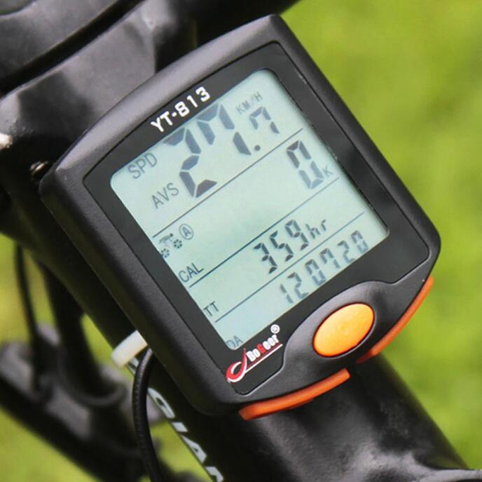 Wireless Digital font b Computer b font Odometer Speedometer Stopwatch Thermometer For Bike font b Bicycle