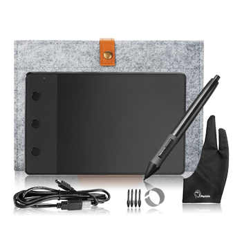 Original Huion H420 Graphic Tablet Art Drawing Board+10 Inches Wool Liner Bag +Two Fingers Anti-fouling Glove as Gift - DISCOUNT ITEM  21 OFF Computer & Office