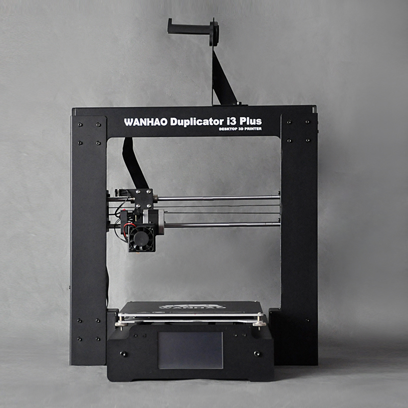 WANHAO 3D printer i3 Plus , good touch LCD. including one printer, one spare parts bag, testing filament 10M. flsun 3d printer big pulley kossel 3d printer with one roll filament sd card fast shipping
