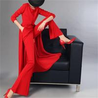 Fashion red suit female summer New autumn Temperament goddess suit skirt two piece suit women casual red dress women
