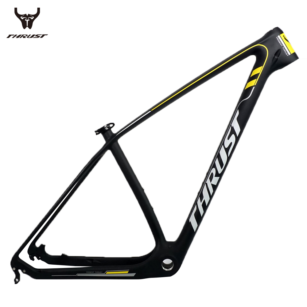 THRUST Mountain Bike Carbon mtb Frame 29er T1000 China Carbon Frame mtb 29er 27.5er 15 17 19 Bicycle Frame with Headset Clamp mtb mountain bike bicycle frame 26 x 17 inch al6069 for bike headset 44mm glossy for headset 44mm