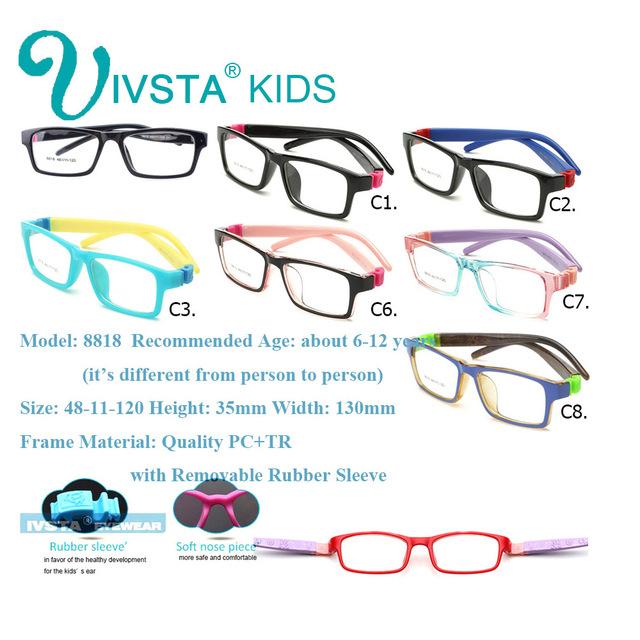 IVSTA  8818 TR Girls Glasses Children Eyeglasses Prescription Eyewear Kids Optical Frame Myopia Amblyopia Prescription Lenses