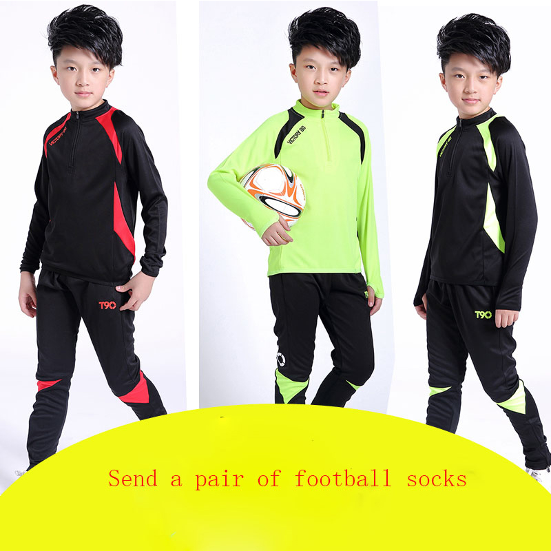 2016 New Autumn Winter fashion hello kitty children clothes set outdoor sport soccer football suit kids