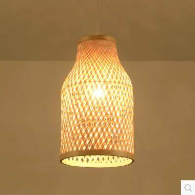 Online Shop Southeast Asian Chinese antique tea bamboo rattan lamp ...