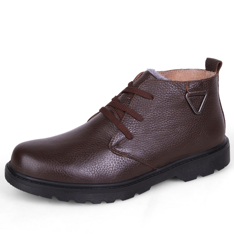 winter fashion boots genuine leather motorcycle boots