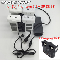 HOBBYINRC Battery Parallel Quick Charging Hub 3 In 1 Charger Adapter for DJI Phantom 3 advanced