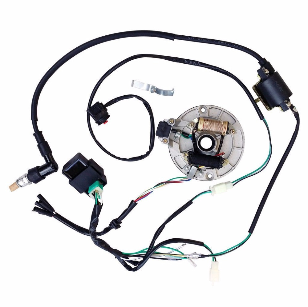 wiring diagram kick start motorcycle all electrics kick start 50 110 125cc 140 wire harness cdi coil  125cc 140 wire harness cdi coil
