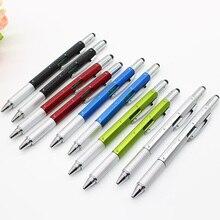 1 шт. 8 цветов инструмент, шариковая ручка отвертка линейка уровень сенсорный экран подарок многофункциональные пластиковые ручки школьные офисные принадлежности