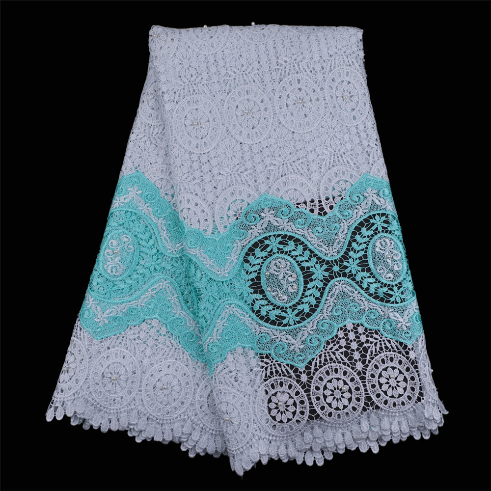 White lace fabric for wedding dresses african guipure cord for White lace fabric for wedding dresses