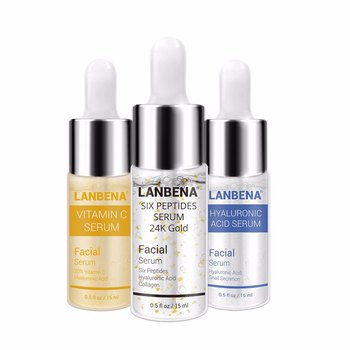 Serum for face hyaluronic acid stock solution + vitamin C stock solution + 24k gold stock solution Anti-Aging liquid facial skin фото