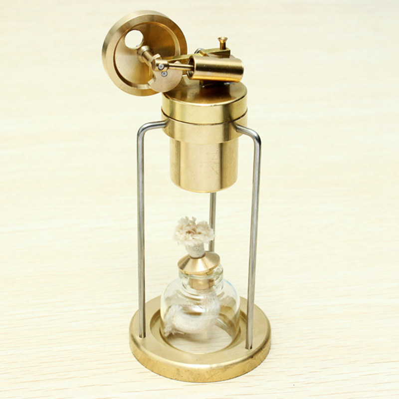 Mini Live Steam Engine Brass Stirling Engine Model Science Educational Toys qx fd 03 stirling engine model mini