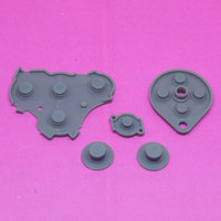Free shipping, Replacement For Nintendo GameCube NGC Controller Conductive Silicone Button Pad [1set=5pcs]