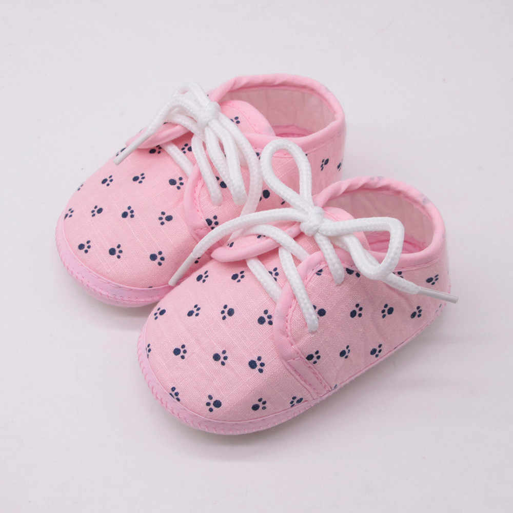 ทารกแรกเกิดรองเท้าเด็กวัยหัดเดินรองเท้าเด็กหญิงตัวอักษรรอยเท้าลายสก๊อต Anti - Slip รองเท้า Crib รองเท้า bebek ayakkabi1.371