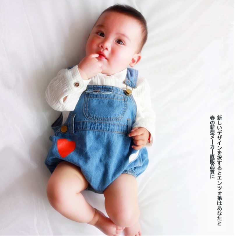 Baby Girl Boys Rompers Sleeveless Demin Kids Bobo Bebe Rompers Summer Fashion Baby Blue Jean Jumpsuits Children Clothes 0-3Y