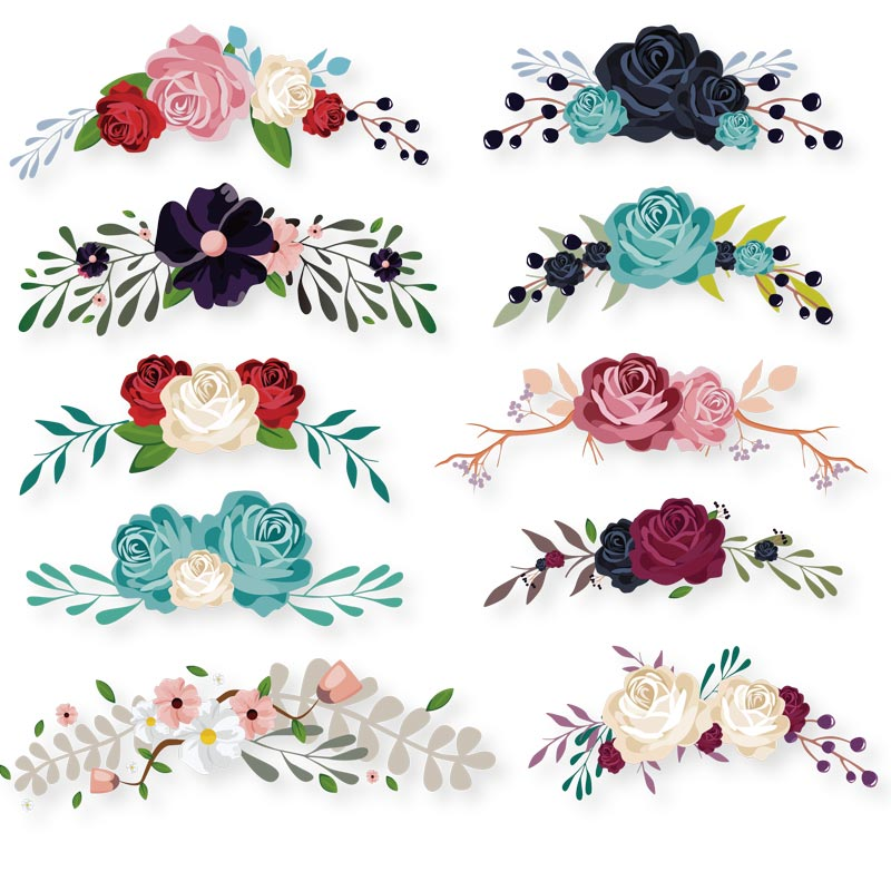 ONESAID Flower Iron on Patches Applique for Clothing Iron-on Transfers Heat Press Appliqued Accessory Diy Heat Transfers S-083