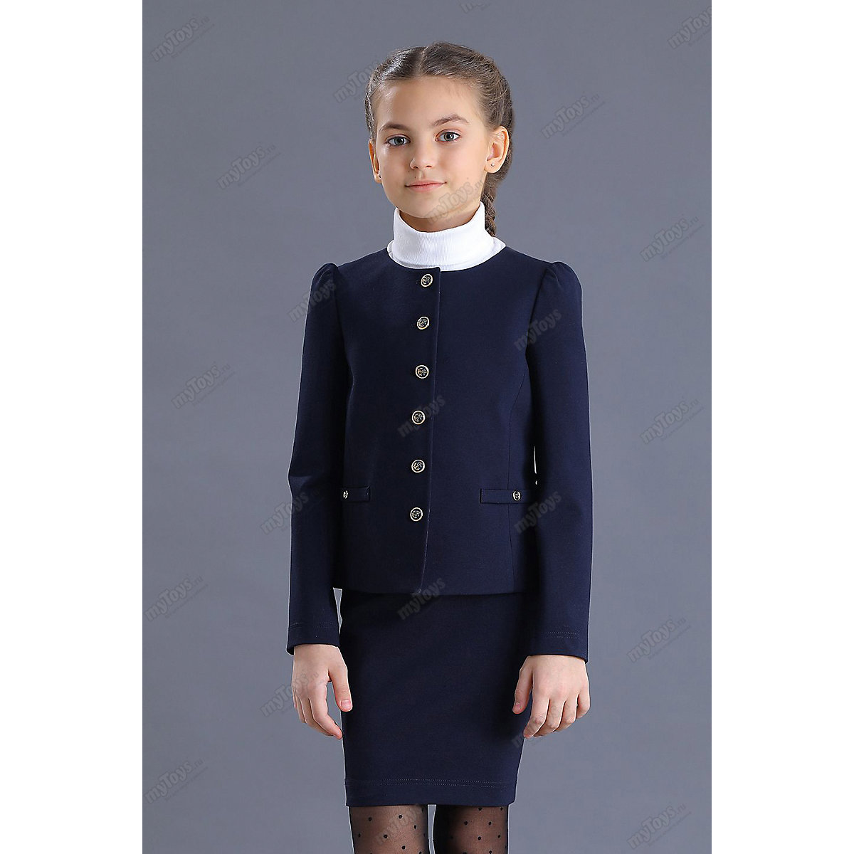 Malenkaya Lady Suits & Blazers 11686406 jacket  elegant long sleeved for girls childrens clothing fashion long layered capless elegant straight tail adduction synthetic adiors wig for women