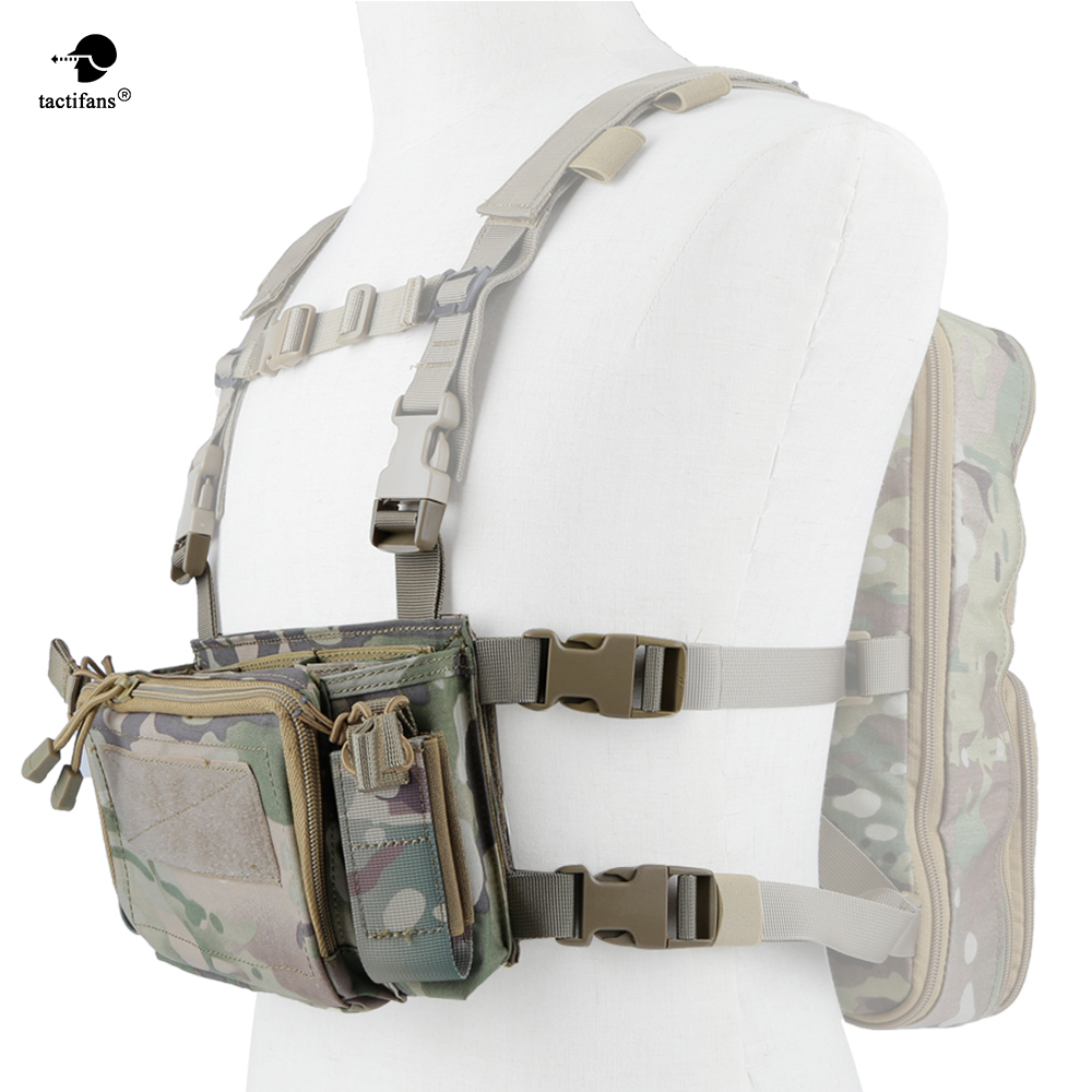 Army Tactical Carrier Armor Chest Rig Vest Harness Rifle Pistol Magazine Pouch CRX Hunting Equipment Accessories
