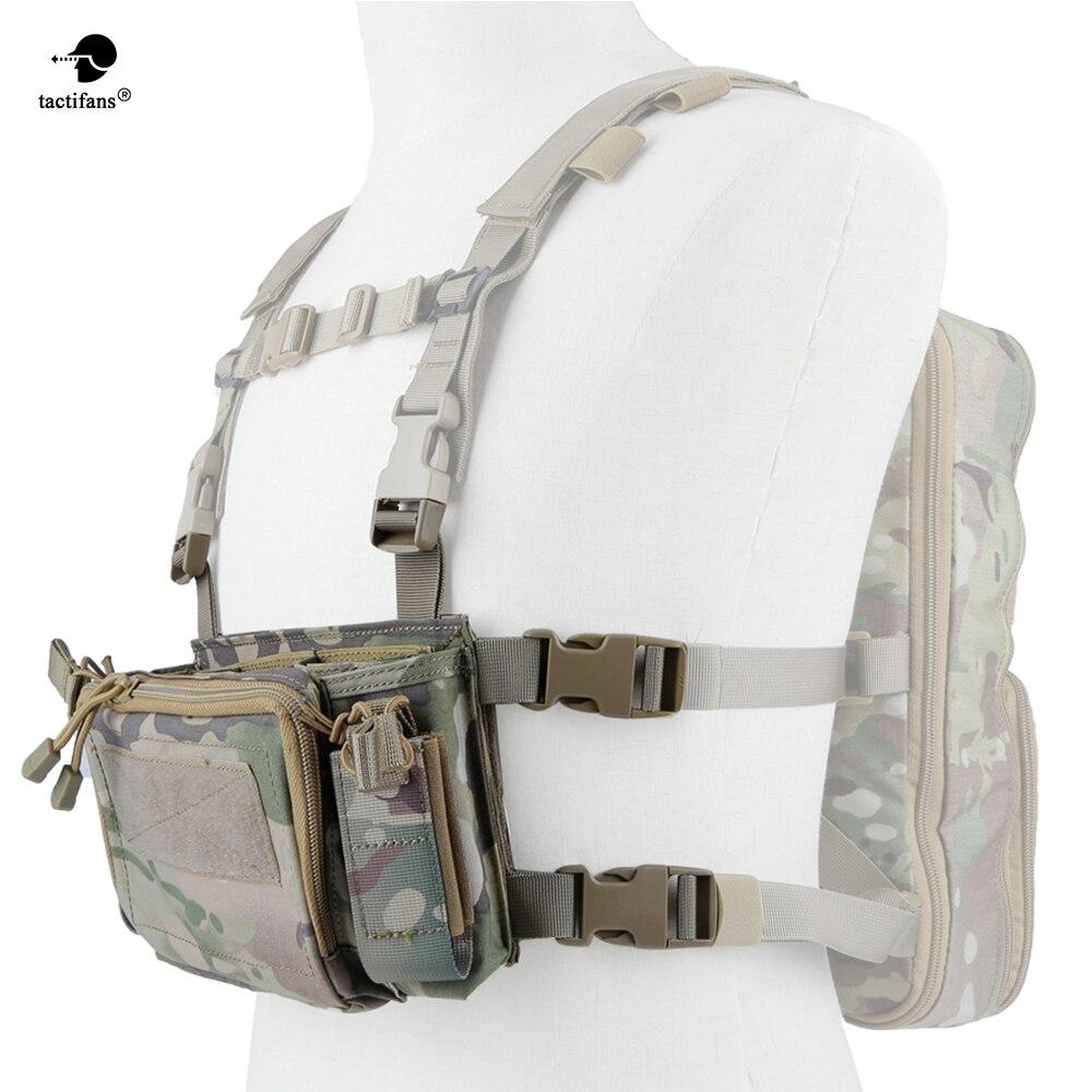 Armée tactique transporteur armure poitrine plate-forme gilet harnais fusil pistolet chargeur pochette CRX utilitaire poche chasse accessoires 5.56