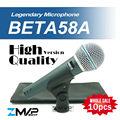 FreeShipping! 10pcs High Quality Version Beta 58a Vocal Karaoke Handheld Dynamic Wired Microphone BETA58 Microfone Beta 58 A Mic