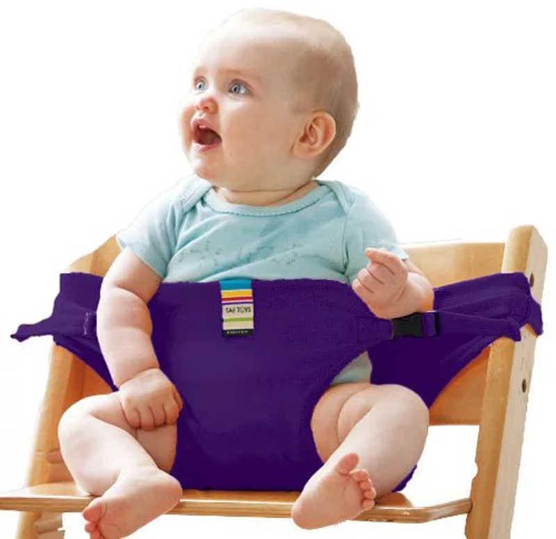Silla de comedor para bebé, cinturón de seguridad, asiento portátil, silla de almuerzo, asiento elástico, silla de alimentación, arnés, asiento elevador para bebé