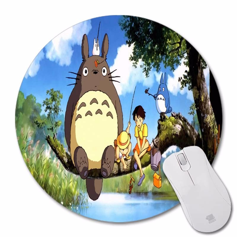 Mouse Pads Latest Collection Of Maiyaca Diy My Neighbour Totoro Anime Umbrellas Wallpaper Ame Print Brand Mousepad Silone Pad Soft Round Rubber Mouse Mat Pad