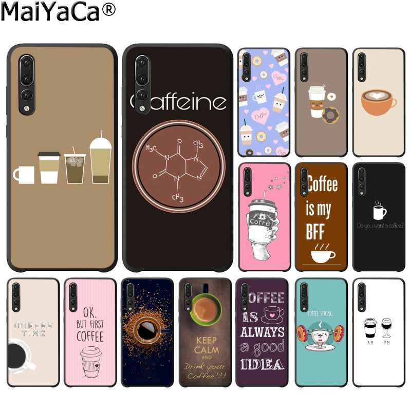 MaiYaCa Coffee Wine Cup book TPU Soft Silicone Phone Case Cover for Huawei P10 Plus Lite P20 Pro Mate20 Pro Mate10 Lite P30 Pro