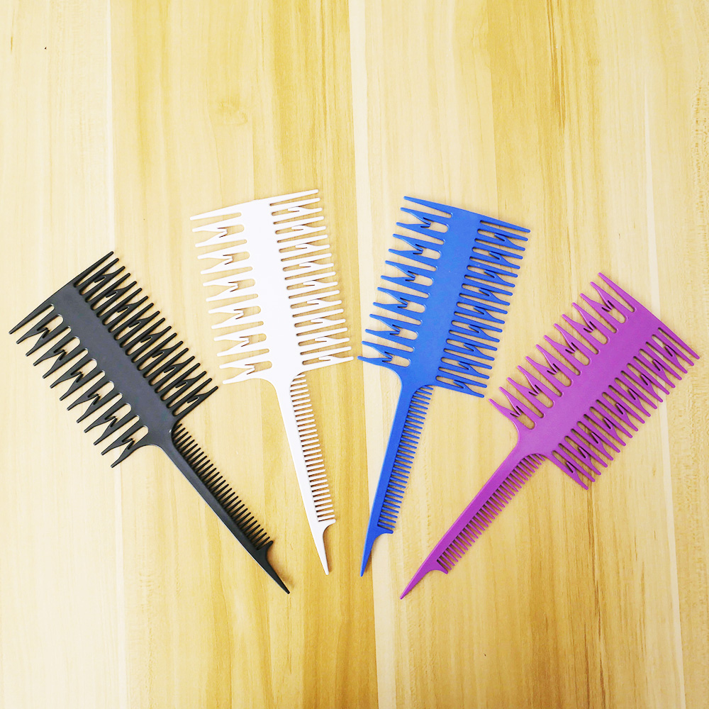 Salon Professional Hair Dyeing Comb Fish Sections Highlighting Comb