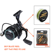 Spinning Fishing Reel+Fishing Line Front Drag System Gear Ratio 6.3:1 9BB+1 CNC Handle Rubber Knob Saltwater Fishing Reel Wheel