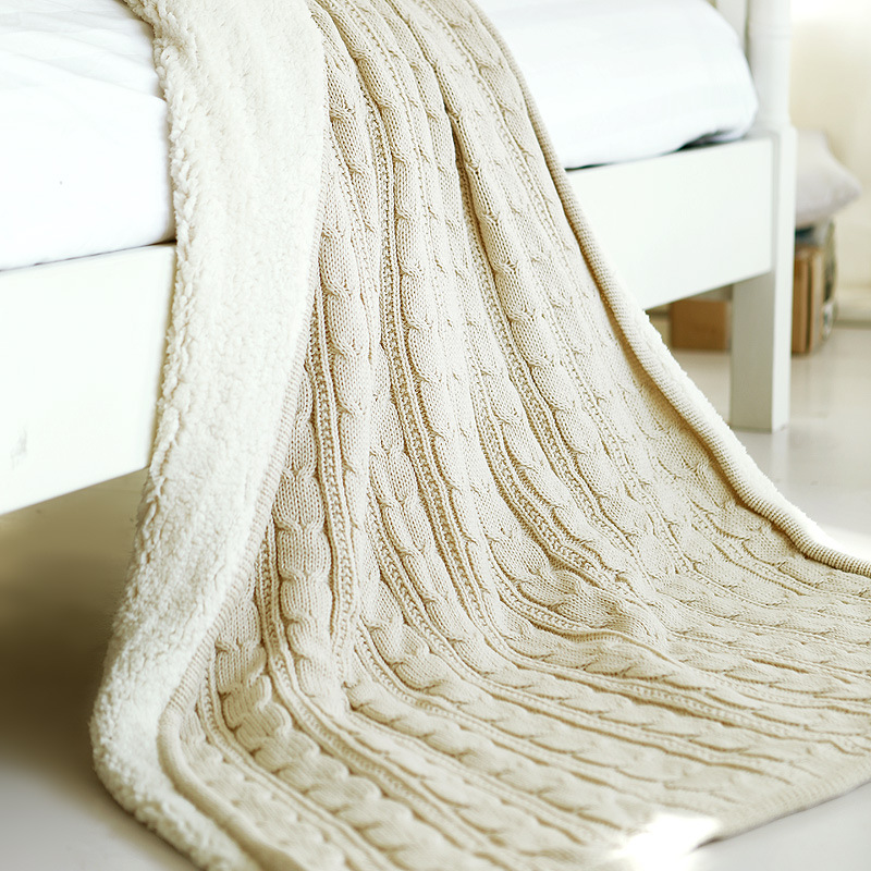 Warm 2016 New Knitted Throw Blanket on Bed Cotton Plaid For Sofa Travel/Plane/Camp Winter Blankets 120*180 cm throw blanket thick plush blankets super soft and warm cotton knitted blanket on sofa bed thick baby blanket 150 200cm 100 120cm