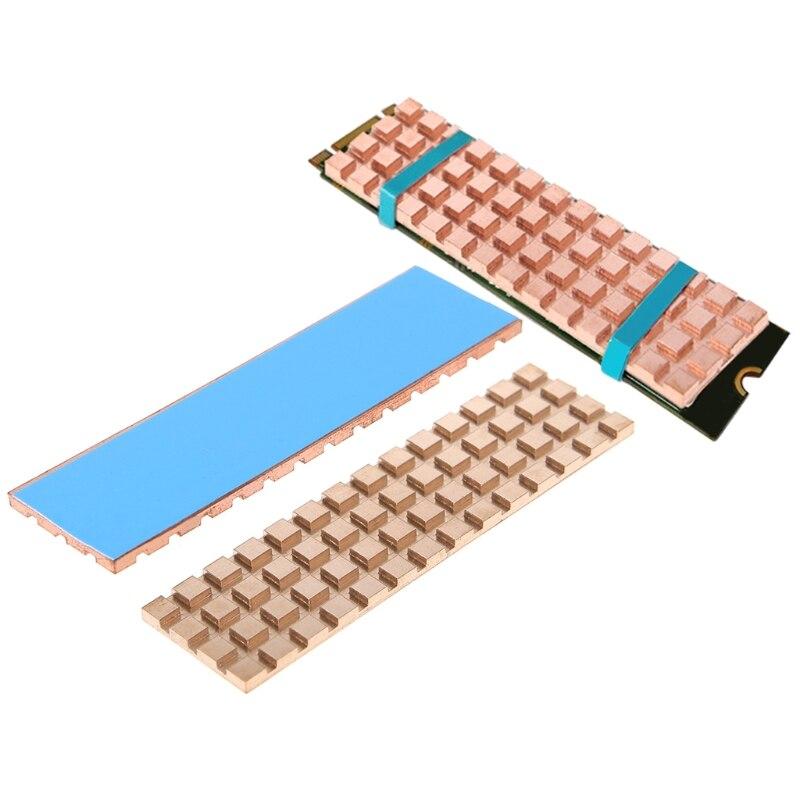 Rame del Dissipatore di Calore Termico Adesivo Conduttivo Per M.2 NGFF 2280 PCI-E NVME SSDRame del Dissipatore di Calore Termico Adesivo Conduttivo Per M.2 NGFF 2280 PCI-E NVME SSD