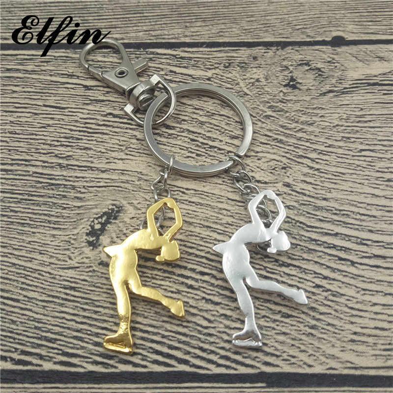 Elfin nouveau porte-clés de patinage sur glace à la mode femmes hommes porte-clés de patinage sur glace porte-clés Figure bijoux bijoux de Sport