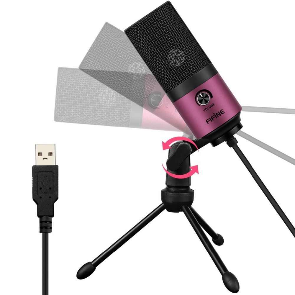 USB MIC Fifine Desktop di Microfono A Condensatore per I Video di YouTube Trasmissione In Diretta Meeting On-Line Skype vestito per Windows MAC PC k669