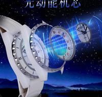 2019 Hong Kong MRHEA Eco Drive energy fashion new ceramic belt women's watch double layer leather fashion watch