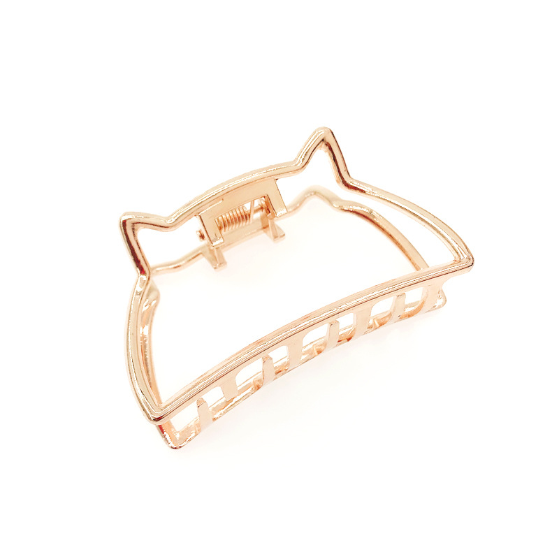 Fashion Women Girl Large Hair Claw Clamps Small Hair Clip Hairpins Headwear Metal Cat Claws Clamps Accessories in Women 39 s Hair Accessories from Apparel Accessories