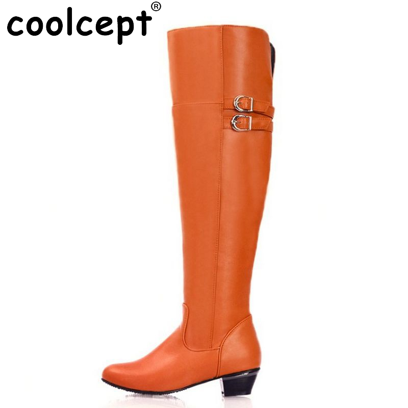 Size 30-47 Woman Over Knee Long High Heel Boots Zipper Snow Botas Fashion Winter Warm Equestrian Boot Footwear Shoes P9982 free shipping over knee wedge boots women snow fashion winter warm footwear shoes boot p15323 eur size 34 39
