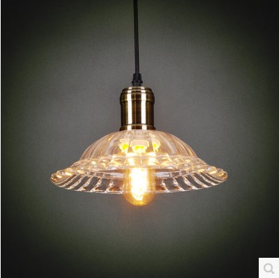American Country Style Loft Industrial Lamp Vintage Pendant Lights Fixtures With Glass Lampshade Hanglampen american country industrial glass pot pendent lamp