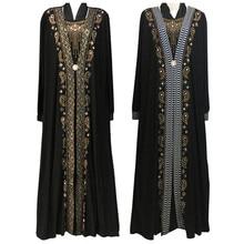 free shipping Muslim black abaya islamic clothing for women embroidery rhinestone dubai kaftan robe dress turkish abaya  D253