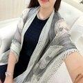Sping autumn and winter lady thin scarf Imitation silk skull printed scarves summer fresh fashion lady beach towel