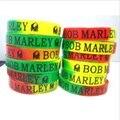 Новый 48 шт. смешанные много Боб Марли Раста Ямайка Reggae Силиконовые Резиновые браслеты-браслеты