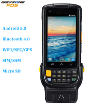 IssyzonePOS PDA Android Barcode Scanner 2D Rugged PDA POS Terminal Bluetooth NFC Camera Wi-Fi GPS Delivery Warehouse Management недорого