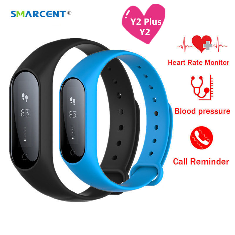 Y2 Plus Bluetooth Smart Band Heart Rate Blood Pressure Monitor Smartband Bracelet Fitness Tracker Anti-lost Wristband pk y5 z11