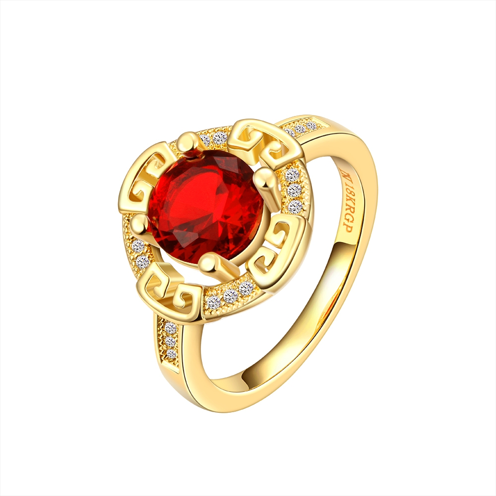 fashion ladies anniversary jewelry rose gold ring replica ruby ...