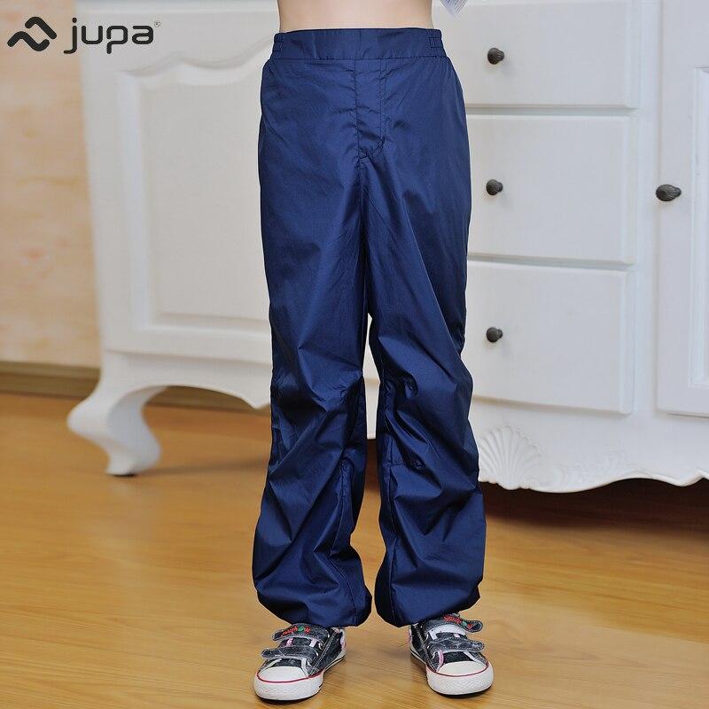 JUPA 2018 new fashion sport boys full length trousers blue Elastic Waist loose pants boys Mid waist straight 2-8 boys elastic waist solid pants