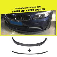 Carbon Fiber Racing Front Bumper Lip And Rear Trunk Boot Lip Wing Body Kit For BMW E89 Z4 Coupe Convertible 2 Door 2009 2013